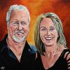 "Craig and Joanne Pickett, 30"" x 30"", acrylic on canvas"