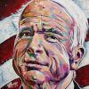 "John McCain, 12"" x 12"", acrylic on canvas"