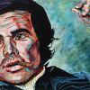 "Burt Reynolds, 12"" x 24"", acrylic on canvas"