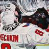 "Ovechkin's Stanley Cup Moment, 20"" x 30"", acrylic on canvas"