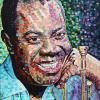 "Louis Satchmo Armstrong, 24"" x 24"", acrylic on canvas"