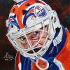 "Grant Fuhr, 24"" x 24"", acrylic on canvas"