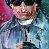 "Eazy-E, 12"" x 24"", acrylic on canvas"