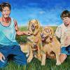 "Gavin, Misty, Bella and Graham, 24"" x 36"", acrylic on canvas"