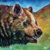 "Freedom Bear, 16"" x 16"", acrylic on canvas"