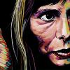 "Joni Mitchell, 12"" x 24"", acrylic on canvas"