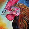 "Hengs Rooster, 12"" x 16"", acrylic on canvas"